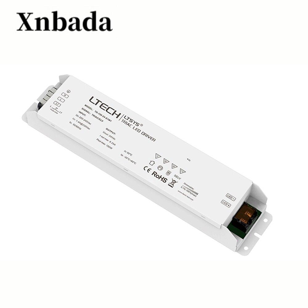 LTECH TD-150-24-E1M1 Output 150W 24VDC constant voltage CV Triac Dimmable LED DriverLTECH TD-150-24-E1M1 Output 150W 24VDC constant voltage CV Triac Dimmable LED Driver