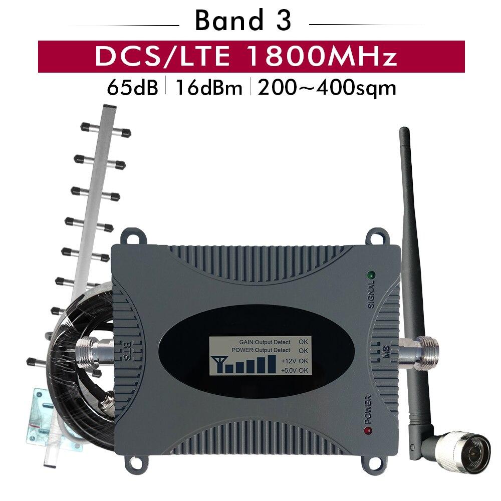 Gain 65dB LTE DCS 1800 amplificateur de Signal de téléphone portable 4G DCS/LTE 1800 mhz bande 3 amplificateur cellulaire ensemble d'antenne répéteur de Signal Mobile
