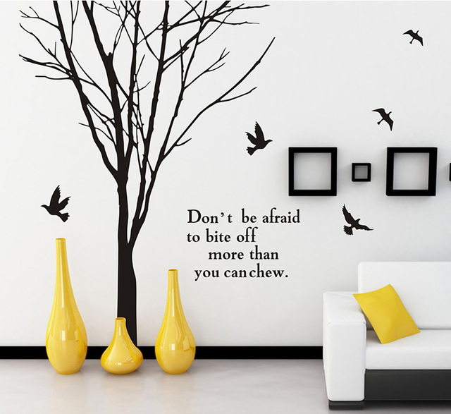 Aliexpress.Com : Buy Sale Branch Carved Large Wall Sticker Home