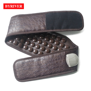 Image 4 - BYRIVER Korea Tourmaline Massage Belt Far Infrared Ray Heating Health Stomach Waist Heated Massager Germanium Magnetic Stone