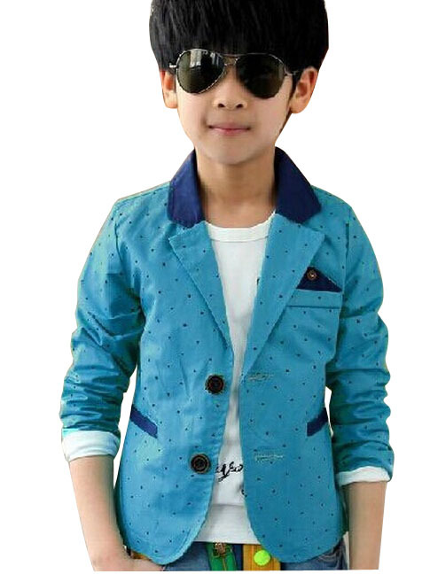 2018 New Dot Print Long Sleeve Boys Blazers Children Wedding Clothing Kid Casual Suits U0026 Autumn ...