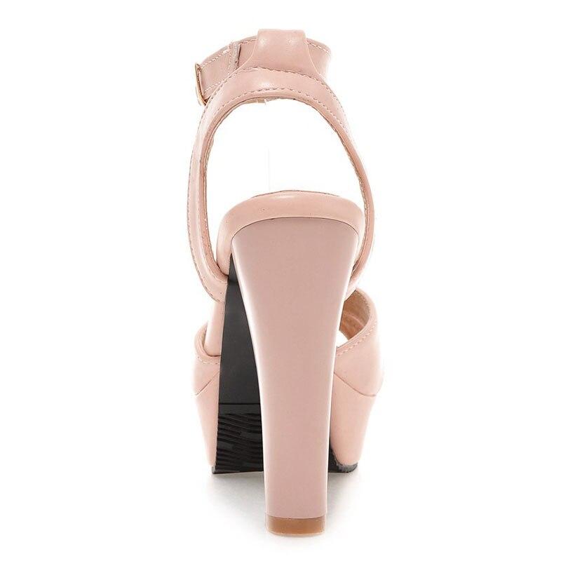 a4503bce2642 ... Fanyuan Women 32 45 Elegant Platform Women High Heels Color Sandals  Shoes New Chunky Size Simple