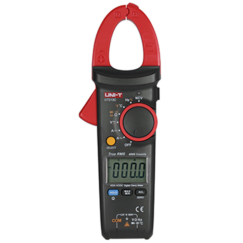 UNI-T clamp meter UT213C ac dc current clamp meter LCD backlight Resistance C/F Voltage digital clamp meter auto mini clamp цена