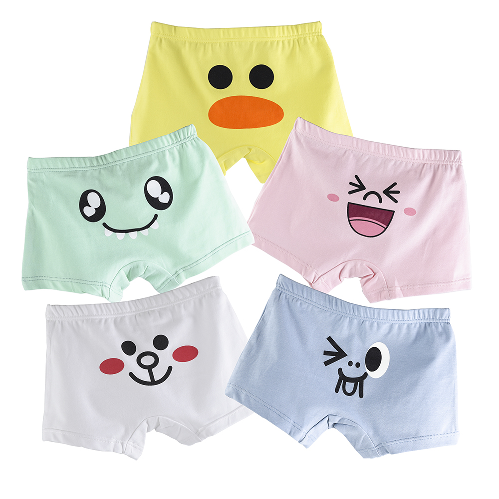 5 Piece/lot 10-Kinds Cute Animal Kids Boxer for Baby Boys Girls Underwear Teenager Shorts Panties Childrens Underwear 3-11 T