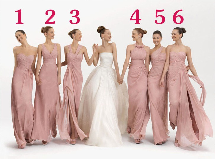 Free Shipping 2017 New Arrival 6 Diffe Fashion Styles Chiffon Material Bridesmaid Dress Vss1646 In Evening Dresses From Weddings Events On