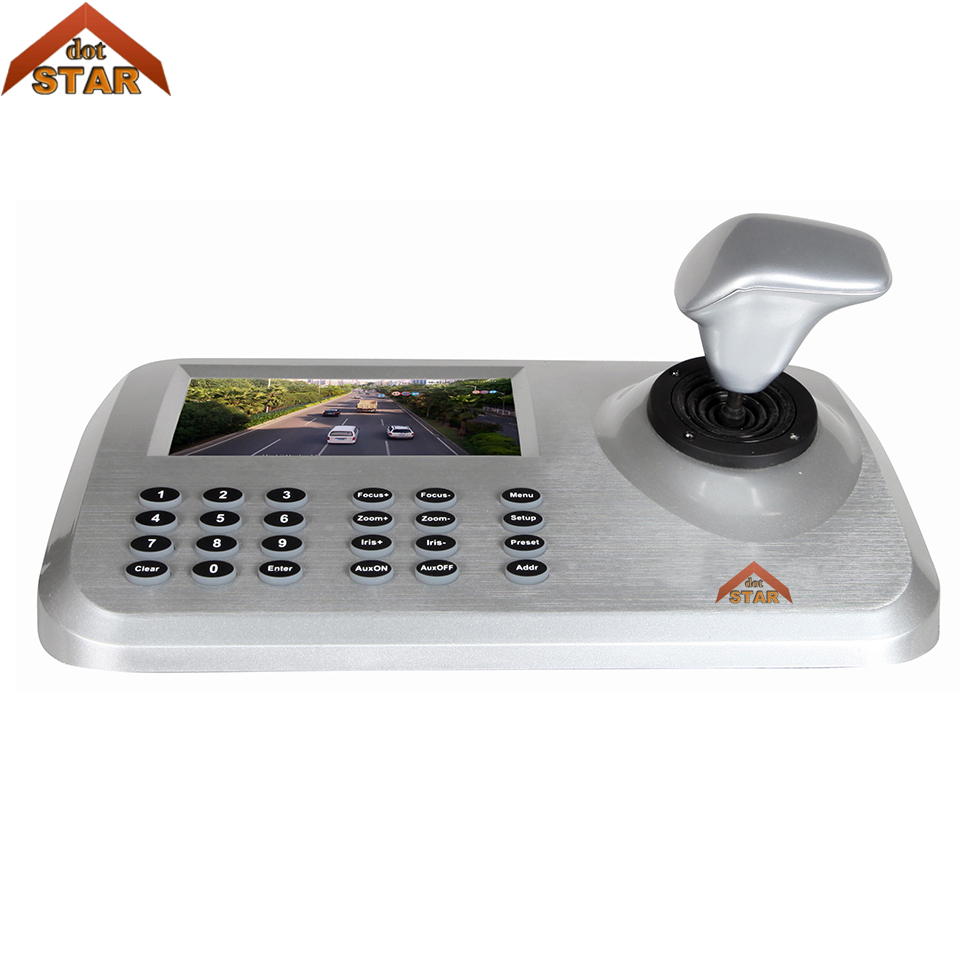 5inch IP PTZ Keyboard control High Speed Dome Camera 3D Joystick 5.0 LCD Display HD Network PTZ Keyboard Controller