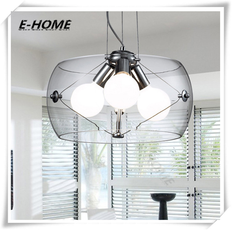 Italian design high-grade transparent glass chandeliers wholesale minimalist bedroom restaurant table lamps