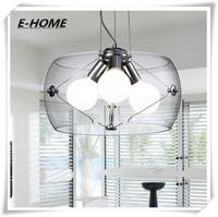Thiết kế ý cao cấp trong suốt đèn chùm thủy tinh bán buôn phòng ngủ tối giản nhà hàng bảng đèn