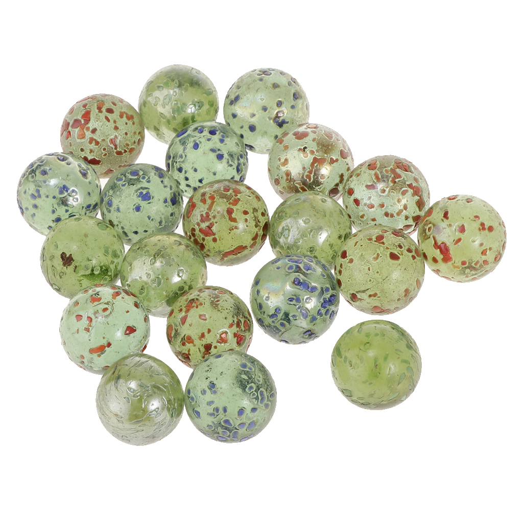 16mm Small Glass Marbles, Pack Of 20, Kids Marble Game Toy, Chinese Checkers Accessory - Green