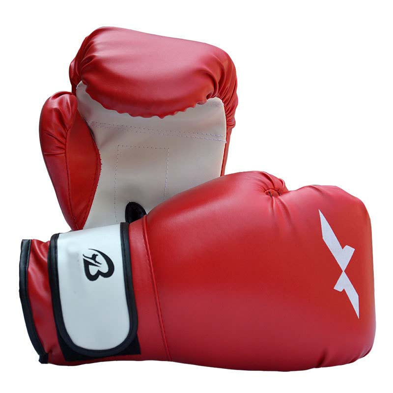 1pair Sports Fighting Golves <font><b>MMA</b></font> Boxing <font><b>Glove</b></font> PU Leather with EVA Lining for Training Competition image