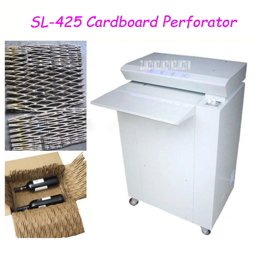 SL 425 Commercial Cardboard Perforator Carton Shredder Industrial Waste Paper Shredder Steel Cardboard Cutting Machine 110V/220V|Shredder| |  - title=