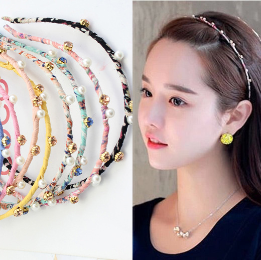 South Korea han edition cute cute hair hoop superfine lace contracted pearl diamond gradient head band drug utilisation pattern in a revolving funds scheme