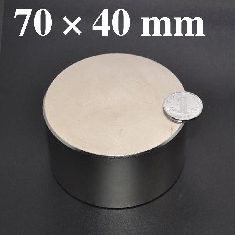 HYSAMTA Néodyme aimant 70x40 N52 rare terre super fort puissant de soudage ronde recherche aimants permanents 70*40mm gallium métal