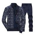 Casual zip long sleeve men sportswear suit 5XL 6XL 7XL 8XL+pants men's Sweatshirts+men Tracksuit Set jacket men KY34u