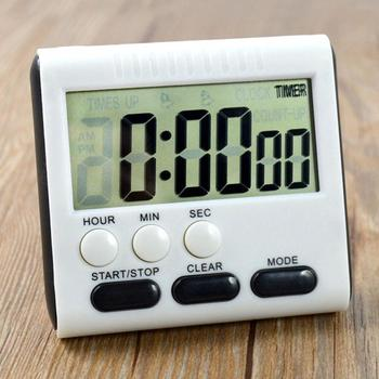 Magnetic Large LCD Digital Kitchen Timer with loud Alarm Count Up& Down Clock to 24 Hours