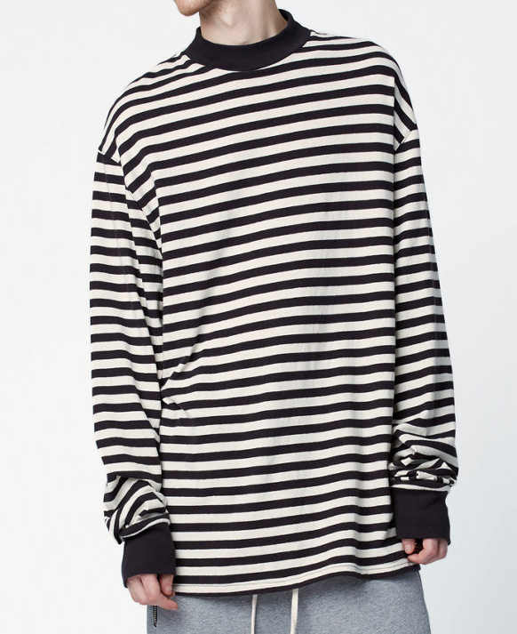 572215d0 Detail Feedback Questions about Men oversized black white stripe long  Sleeve T shirt streetwear hip hop plus striped tee on Aliexpress.com |  alibaba group