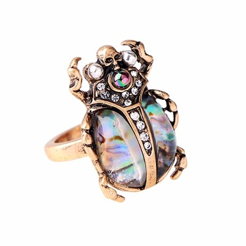 Женское винтажное кольцо в виде жука