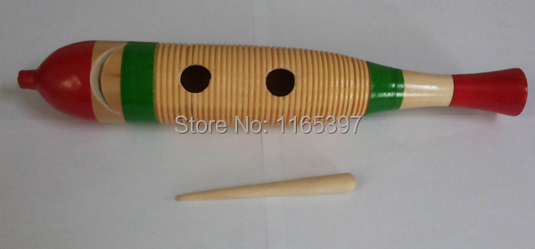 0237ae8cd287 Free ship1pc children kids natural Wood colorful fish guiro frog croaking  noise maker scraper percussion musical