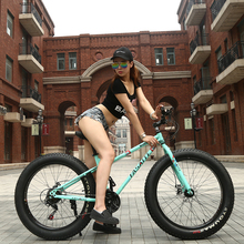 26×4.0″SHIMANO Super Wide Tire Snow Bike 2017 Free Delivery Mountain Bike 20-Inch 7/21/24/27 Speeds Fat Tire Snow Bicycle