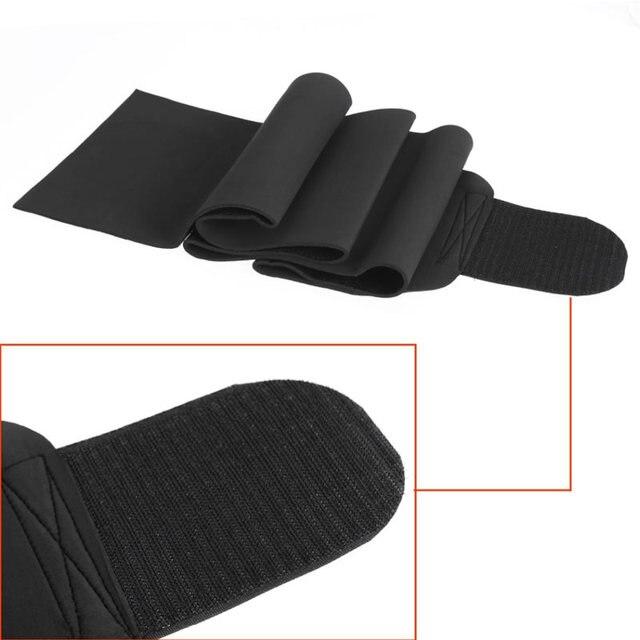 Professional Waist Trimmer Sports Gym Sweat Belt Premium Waist Support For Men And Women Universal Black Neoprene Fitness 5