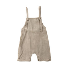 7e852e90174 2018 Brand New Toddler Infant Newborn Kid Boy Girl Bib Pants Romper Jumpsuit  Playsuit Outfit Solid Summer Clothes 0-3T