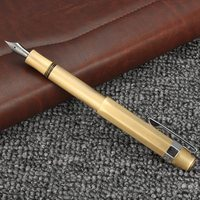 Kicute Vintage Design Metal Brass Extra Fine 0 38mm Nib Fountain Pen With Gift Box Screw