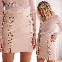 Hot Sale Cheap Price Women Mini Skirt Women Bandage Suede Fabric Mini Skirt Slim Seamless Stretch