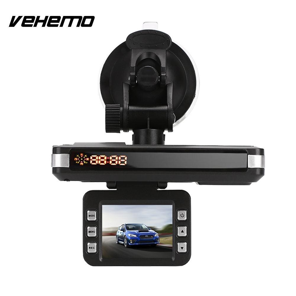 Vehemo 720P 2 in 1 Car Speed Laser Car Camera Radar Voice Alert Warning Car DVR Rocorder Speed Control Detector 360 Drgrees