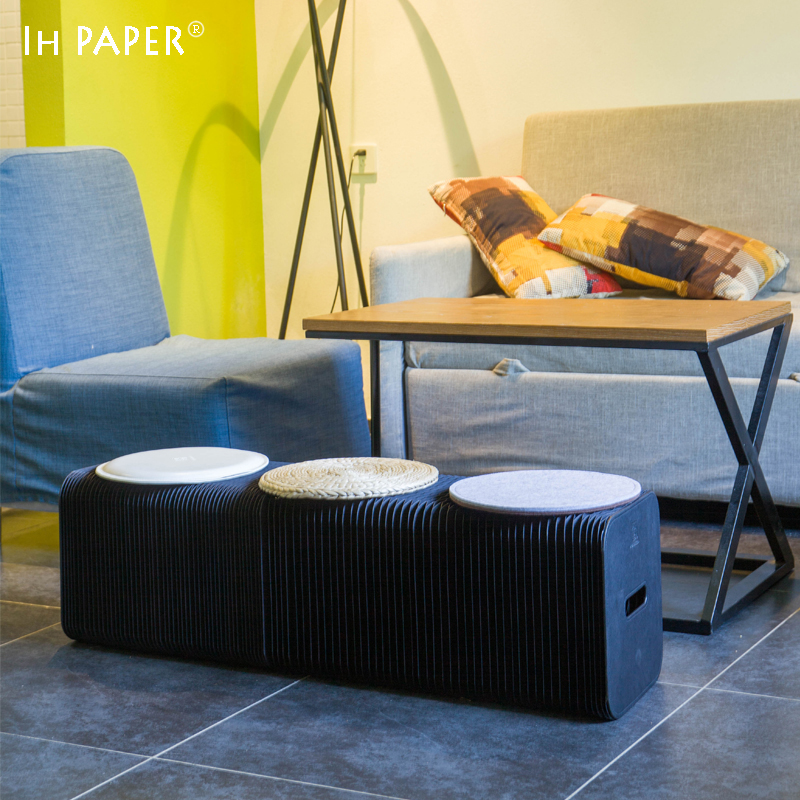 Fashion Creative Black Kraft Paper Folding Sofa, ,Space- saving Sofa for office room/living room Modern Minimalist Design 140 page note paper creative fruit design