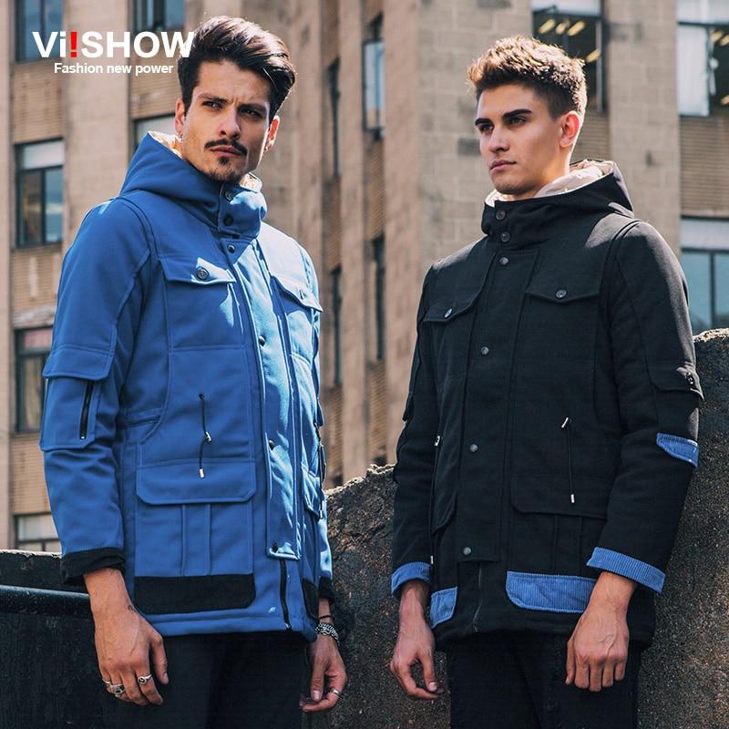 VIISHOW New Winter Jacket Men Parkas Hombre Invierno Multi Pocket Mens Winter Jackets And Coats Warm Overcoat Brand Clothing Men