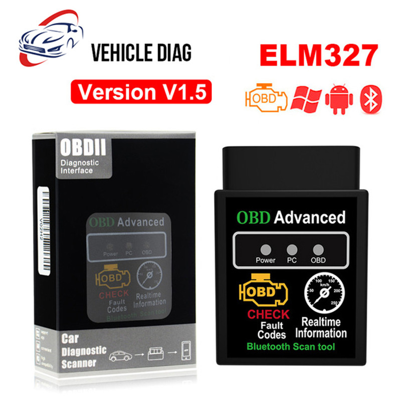 Open-Minded Obdii 2 Elm327 Bluetooth V1.5 Interface Works On Android Torque Elm 327 Bluetooth Obd2/obd Ii Car Diagnostic Scanner Tool Products Are Sold Without Limitations