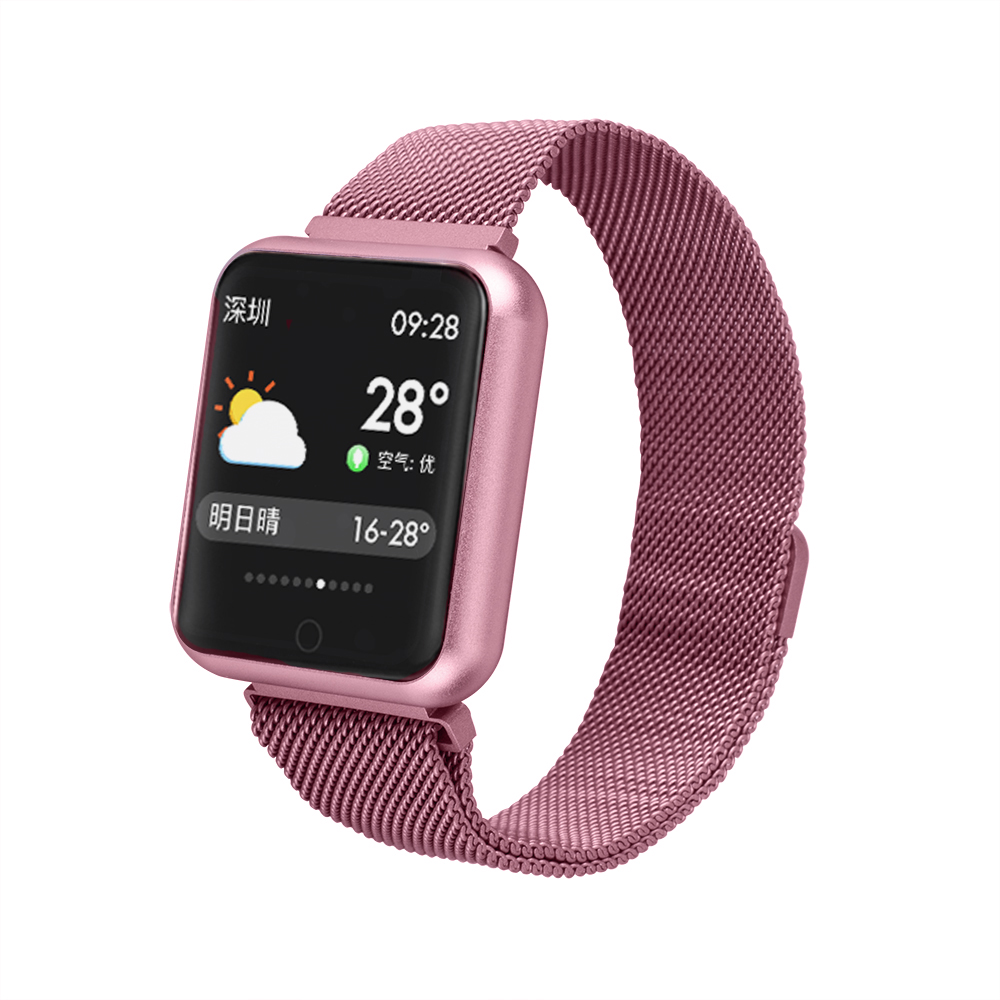 <font><b>Sport</b></font> <font><b>IP68</b></font> <font><b>Smart</b></font> Uhr P68 fitness armband aktivität tracker heart rate monitor blutdruck für ios Android apple iPhone 6 7 image