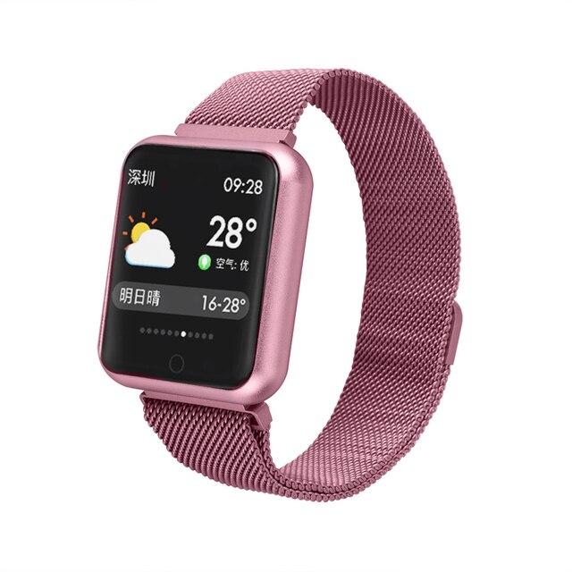 Esportes Relógio Inteligente P68 IP68 pulseira atividade rastreador de fitness heart rate monitor de pressão arterial para ios Android apple iPhone 6 7