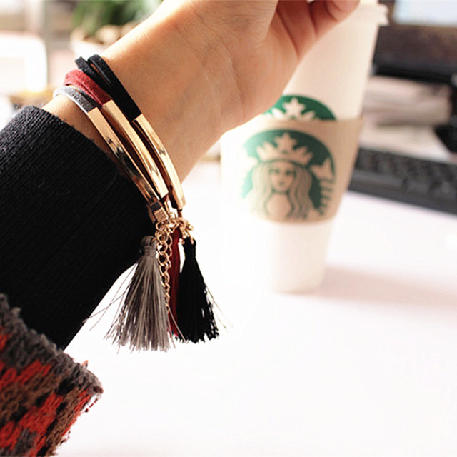 A new mode of black jewelry fashion simple leather bracelets bracelets gifts for