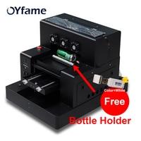 OYfame A3 UV Printer bottle A3 uv printer with free Bottle Holder for Phone case Bottle Cylinder Metal Glass uv printing machine