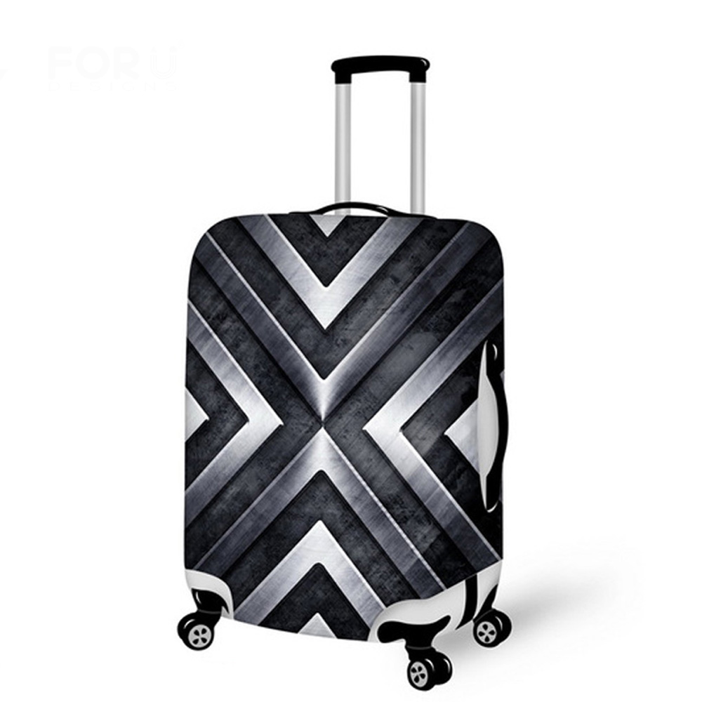 Luggage Protective Case Cool 3D Iron Men Waterproof Cover For 18-30 Inch Trolley Suitcase Elastic Travel Rain Covers