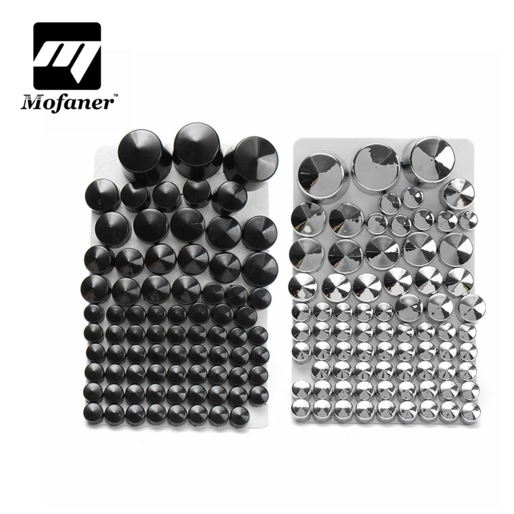 Chrome ABS Bolt Toppers Bolt Cap For Harley/Davidson/Softail/Twin/Cam 1984-2006  Silver/Black 87 pcs chrome bolt topper cap cover nut kit fits for harley softail twin cam 2000 2006