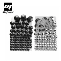 Chrome ABS Bolt Toppers Bolt Cap For Harley/Davidson/Softail/Twin/Cam 1984 2006 Silver/Black 87 pcs