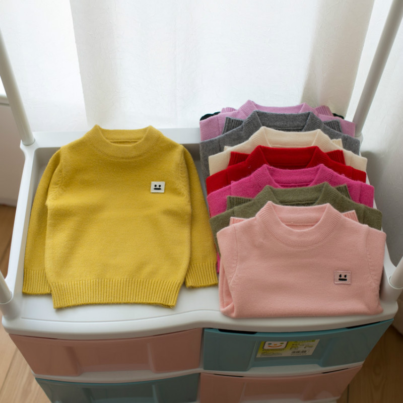 2017 Autumn 1-8Y Quality Cotton Baby Clothing for Girl Boy Knitted Sweater Spring Pullovers Sweaters Boys Wholesael Retail