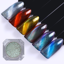 BORN PRETTY 1g 3D Cat Eye Magnetic Mirror Powder Nails Pearl Paillette Manicure Nail Art Pigment Dust Nail Glitters UV Gel