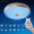 2016 Novo RGB Dimmable 36 W CONDUZIU a Luz de teto com Bluetooth & música 90-260 V lâmpada do teto moderna Levaram para 15-30 metros Quadrados