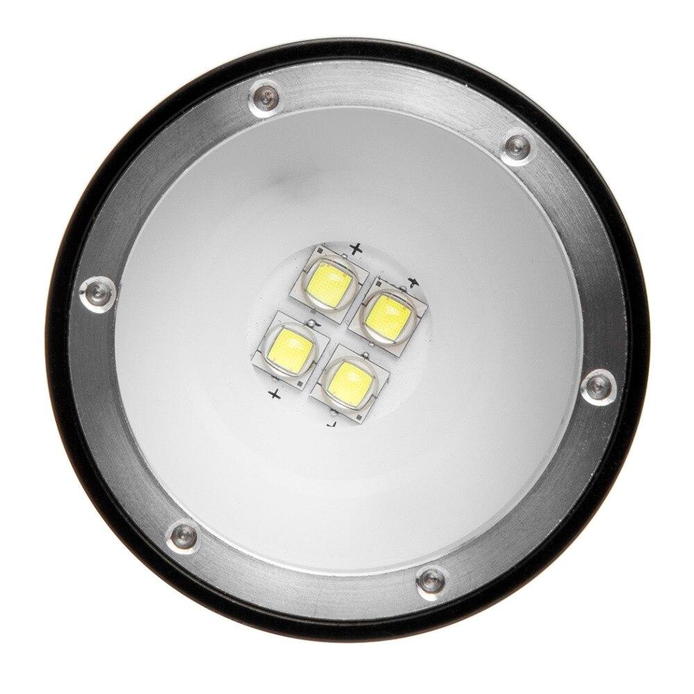 Plongée photographie sous marine vidéo lampe de poche LED W40VR D34VR lampe torche 4x blanc Cree XM L L2 alimentation LED alimentation 1*26650 batterie - 3