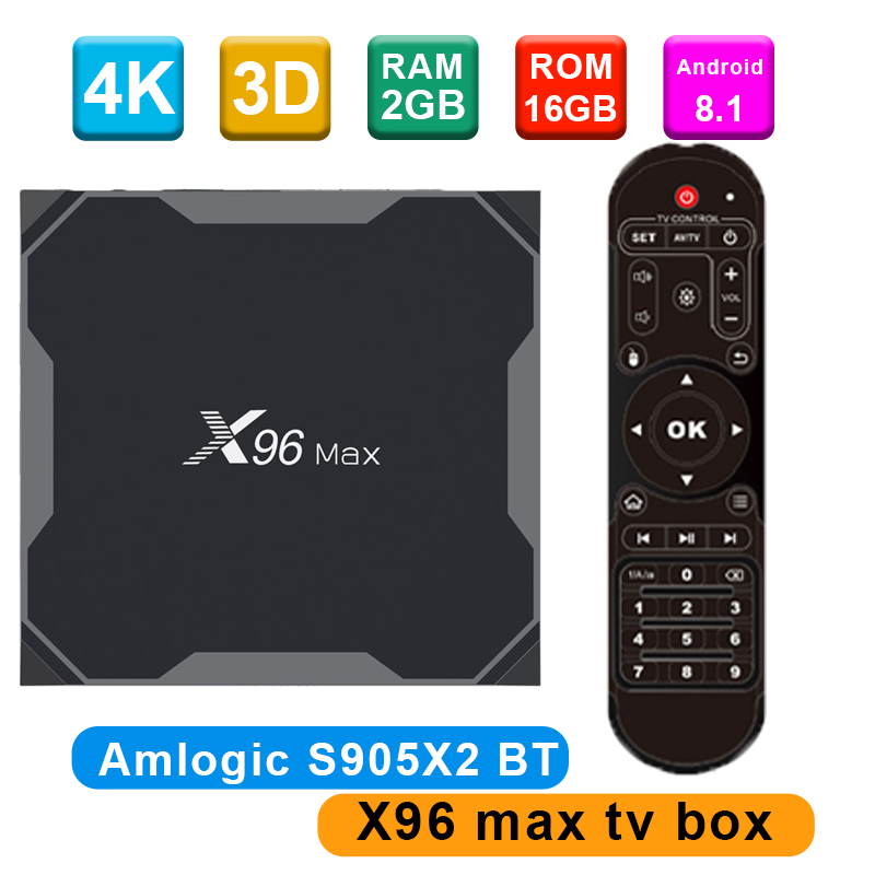 X96Max Smart TV BOX Android 8 1 Amlogic S905X2 LPDDR4 Quad Core 16GB32GB64GB 2 4G 5GHz