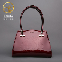 Pmsix 2017 women bag retro bag ladies handbag embossed killer Split  leather Saffiano brand bag P220027