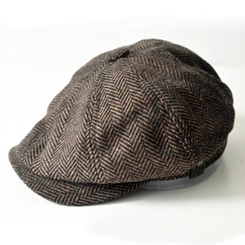 11880c6c Men's cap New Newsboy Caps Movie star Retro HERRINGBONE TWEED cap Driving  Men Wool Fleece Hat, Mens winter hats-in Newsboy Caps from Apparel  Accessories on ...