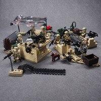 WW2 Military Weapon Army CS SWAT Police Building Blocks Brick Set Desert Eagle Figures Compatible Legoed
