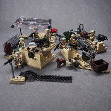 WW2 Military weapon Army CS SWAT Police building blocks brick Set Desert Eagle Figures Compatible legoed toys for children attack of the morro dragon 70736 building blocks model toys for children bela 10400 compatible legoed ninja brick set