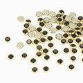 100 Шт./лот 3D Шарм Блеск Сплава Черный Nail Art Стразы Для Ногтей Украшения Кристалл Для Украшения Ногтей Камни PJ335