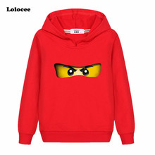 Kids Cotton NINJAGO Hoodie Sweatshirt 2017 Autumn Children's clothing Baby boys girls Tshirts Cartoon Tops for Girls Coat