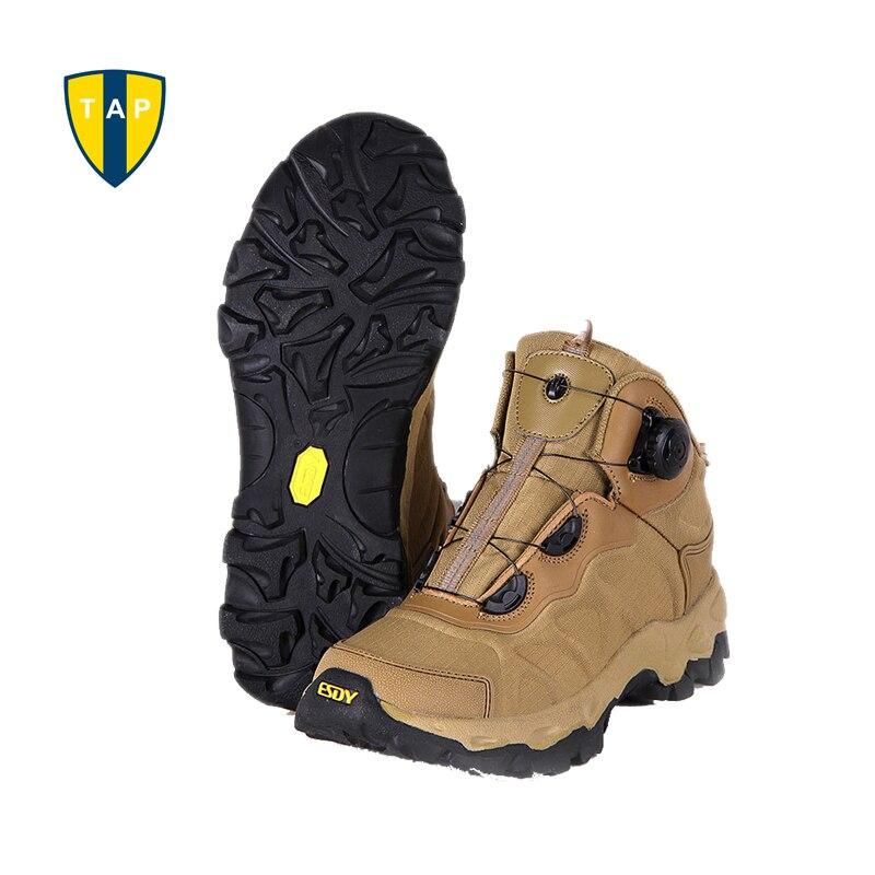 ESDY hommes randonnée bottes système de laçage bottes militaire tactique Combat imperméable armée bottines voyage en plein air escalade chaussures